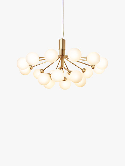 Nuura_Apiales 18_Brushed Brass Finish_Opal White glass_1
