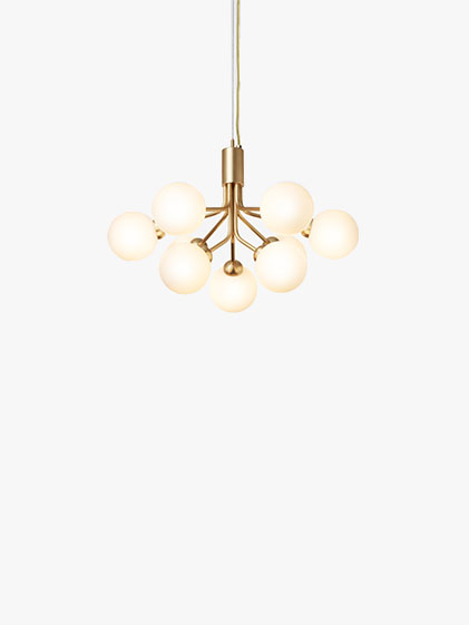 Nuura - Apiales 9 Brushed Brass Opal White 1